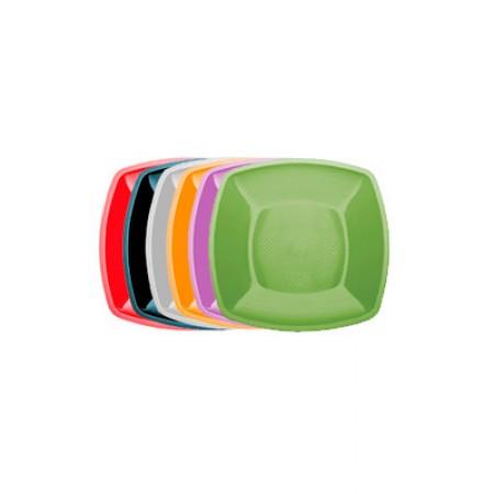 Тарелка глубокая Buffet 180мм*180мм цветная в шоу-боксах