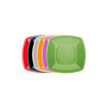 Тарелка глубокая Buffet 180мм*180мм цветная перламутр
