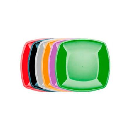 Тарелка Buffet 230мм*230мм цветная перламутр