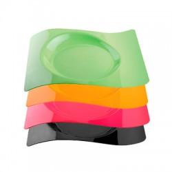 Тарелка Волна большая  Buffet 230*280 цветная