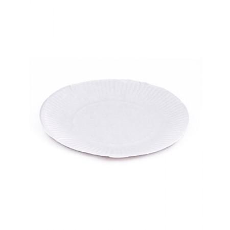 Тарелка картоная круглая  D=170 мм белая розница