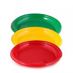 Тарелка D=210 мм цветная опт.