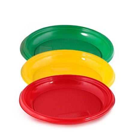 Тарелка D=210 мм цветная розница
