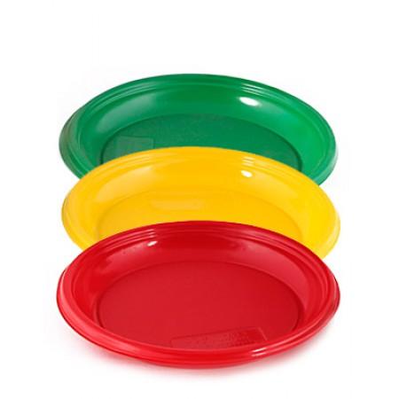 Тарелка десертная D=167 мм цветная розн.